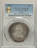 1803 50C Small 3, Large Reverse Stars -- Cleaned -- PCGS Genuine. Fine Details. NGC Census: (0/0 and 0/0+). PCGS Populat...