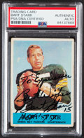 Autographs:Sports Cards, Signed 1964 Philadelphia Bart Starr #79 PSA/DNA Authentic....