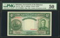 World Currency, Bahamas Bahamas Government 4 Shillings 1936 Pick 9e PMG About Uncirculated 50.. ...