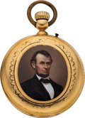 Political:Small Miscellaneous (pre-1896), Abraham Lincoln: Beautiful Gold Pocket Watch....