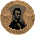 Political:Ferrotypes / Photo Badges (pre-1896), Abraham Lincoln: Choice Gault Frame Back-to-Back Ferrotype.. ...