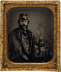 [Abraham Lincoln]: A Spectacular1860 Hartford Wide-Awake Ambrotype
