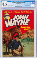 Golden Age (1938-1955):Western, John Wayne Adventure Comics #2 (Toby Publishing, 1950) CGC VF+ 8.5 Off-white pages....