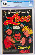 Golden Age (1938-1955):Romance, Confessions of Love #4 (Star Publications, 1953) CGC FN/VF 7.0 Cream to off-white pages....
