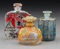 Glass, Three French Glass Perfume Bottles, early 20th century. Marks: (various). 3-1/2 inches (8.9 cm) (tallest, Lucien Gaillard bo... (Total: 3 Items)