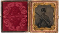 Photography:Tintypes, Triple Armed Confederate Tintype.. ...
