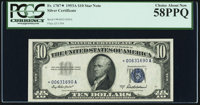 Fr. 1707* $10 1953A Silver Certificate Star. PCGS Choice About New 58PPQ