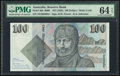 World Currency, Australia Australia Reserve Bank 100 Dollars ND (1985) Pick 48b R609 PMG Choice Uncirculated 64 EPQ.. ...