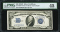 Fr. 1705* $10 1934D Wide Silver Certificate Star. PMG Choice Extremely Fine 45