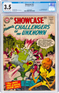 Silver Age (1956-1969):Superhero, Showcase #11 Challengers of the Unknown (DC, 1957) CGC VG- 3.5 Cream to off-white pages....