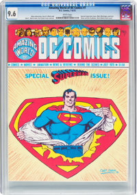 Amazing World of DC Comics #7 (DC, 1975) CGC NM+ 9.6 White pages