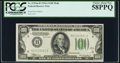 Fr. 2153-H $100 1934A Mule Federal Reserve Note. PCGS Choice About New 58PPQ
