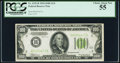 Fr. 2152-B $100 1934 Light Green Seal Federal Reserve Note. PCGS Choice About New 55