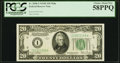 Fr. 2058-I $20 1934D Wide Federal Reserve Note. PCGS Choice About New 58PPQ