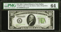 Fr. 2004-K $10 1934 Light Green Seal Federal Reserve Note. PMG Choice Uncirculated 64