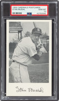 Baseball Cards:Singles (1950-1959), 1958 St. Louis Cardinals Postcards Stan Musial PSA Gem Mint 10....