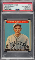 Baseball Cards:Singles (1930-1939), 1933 Sport Kings Carl Hubbell (Patent Card) #42 PSA Authentic/Altered - Unique! ...