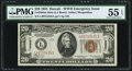 Small Size:World War II Emergency Notes, Fr. 2304 $20 1934 Mule Hawaii Federal Reserve Note. PMG About Uncirculated 55 EPQ.. ...