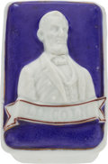 Political:3D & Other Display (pre-1896), Abraham Lincoln: Period Staffordshire Pastille Box. . ...