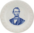 Political:3D & Other Display (pre-1896), Abraham Lincoln: Large ABC Plate.. ...