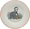 Political:3D & Other Display (pre-1896), Abraham Lincoln: Colorful ABC Plate.. ...