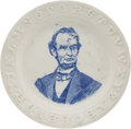 Political:3D & Other Display (pre-1896), Abraham Lincoln. Portrait ABC Plate.. ...