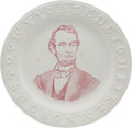 Political:3D & Other Display (pre-1896), Abraham Lincoln: Portrait ABC Plate.. ...
