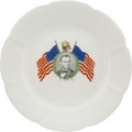 Political:3D & Other Display (pre-1896), Abraham Lincoln: Colorful Portrait Plate.. ...