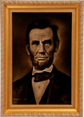 Political:3D & Other Display (1896-present), Abraham Lincoln: Centennial Three-Dimensional Effect Tile.. ...