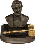 Political:3D & Other Display (1896-present), Abraham Lincoln. Small Bronze Bust.. ...