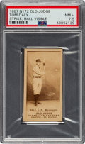 "Baseball Cards:Singles (Pre-1930), 1887-90 N172 Old Judge James ""Sun"" Daly (#115-2) PSA NM+ 7.5. ..."