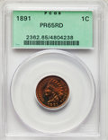 Proof Indian Cents: , 1891 1C PR65 Red PCGS. PCGS Population: (14/4). NGC Census: (10/1). CDN: $1,300 Whsle. Bid for problem-free NGC/PCGS PR65. ...