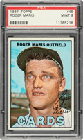 Baseball Cards:Singles (1960-1969), 1967 Topps Roger Maris #45 PSA Mint 9 - None Higher....