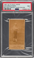 Baseball Cards:Singles (Pre-1930), 1887-90 N172 Old Judge Dan Brouthers (#43-2 Boston) PSA NM 7. ...