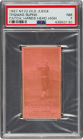 Baseball Cards:Singles (Pre-1930), 1887-90 N172 Old Judge Thomas Burns (#59-3) PSA NM 7. ...