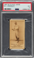 Baseball Cards:Singles (Pre-1930), 1887-90 N172 Old Judge N. C. Crossley (#101-2) PSA EX 5. ...