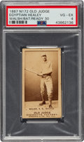 Baseball Cards:Singles (Pre-1930), 1887-90 N172 Old Judge Egyptian Healy (#218-5) PSA VG-EX 4. ...