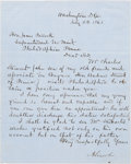 Autographs:U.S. Presidents, Abraham Lincoln: Letter Signed [LS] Requesting Employment for a Friend's Son at the U. S. Mint.. ...