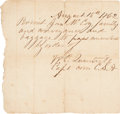 Autographs:Military Figures, William Quantrill: Autograph Note Signed (ANS): A Pass To Cross The Lines.. ...