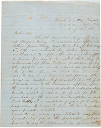 """Thomas J. """"Stonewall"""" Jackson: Autograph Letter Signed [ALS] Promising to Make Good on a Loan Used to Purchase..."""