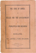 Militaria:Ephemera, [South Carolina]: Two Publications and a Badge that Highlight South Carolina's Acceptance of Dueling and Secession. . ...