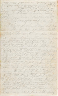Battle of Antietam: 4-Page Soldier's Letter Graphically Describing the Battle
