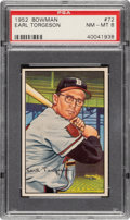 Baseball Cards:Singles (1950-1959), 1952 Bowman Earl Torgeson #72 PSA NM-MT 8....