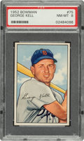 Baseball Cards:Singles (1950-1959), 1952 Bowman George Kell #75 PSA NM-MT 8....