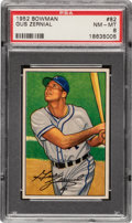 Baseball Cards:Singles (1950-1959), 1952 Bowman Gus Zernial #82 PSA NM-MT 8....