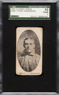 Baseball Cards:Singles (Pre-1930), Very Rare 1909 D380-1 Clement Bros. Bread Goat Anderson SGC 10 Poor 1. ...