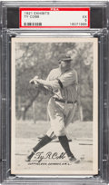 Baseball Cards:Singles (Pre-1930), 1921 Exhibits Ty Cobb PSA EX 5....