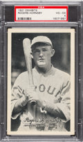 Baseball Cards:Singles (Pre-1930), 1921 Exhibits Roger Hornsby PSA VG-EX 4. ...