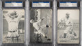 Autographs:Sports Cards, Signed 1921 Exhibits Baseball Hal of Famers PSA/DNA Trio (...
