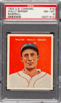 Baseball Cards:Singles (1930-1939), 1932 U.S. Caramel Wally Berger #19 PSA NM-MT 8 - Only One Higher. ...